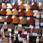 Spices at central market in Agadir (Morocco)