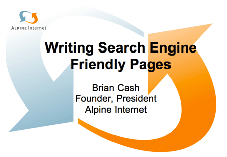 Writing Search Engine Friendly Pages