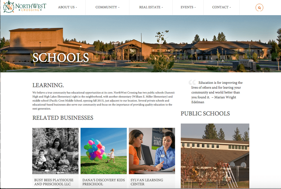 NorthWest Crossing, A Real Estate Website Case Study
