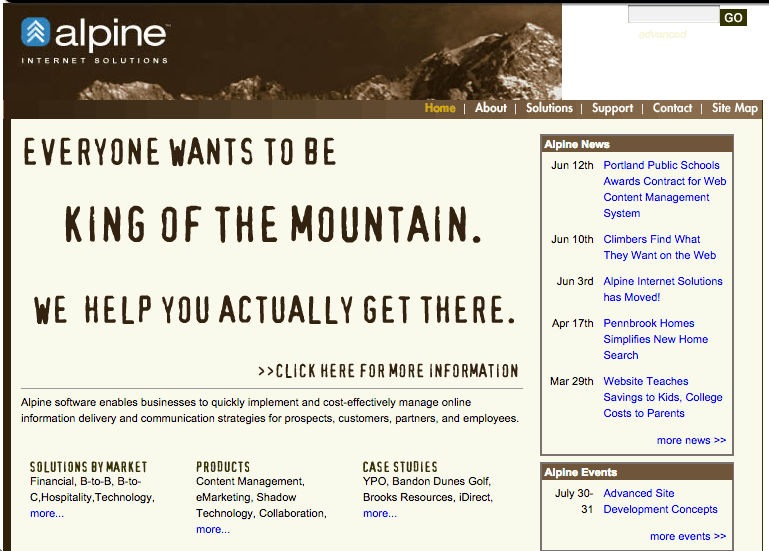 """Brown Mountain"" Site Launched"