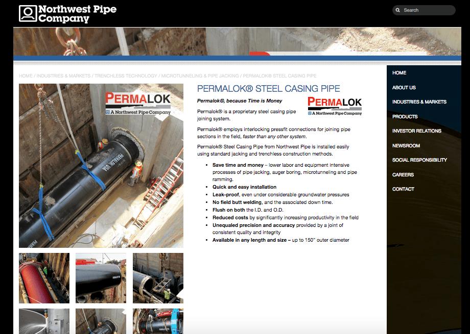 Northwest Pipe, an Industrial Website Design Case Study